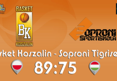 MKK Basket Koszalin (POL) – Soproni Tigrisek SE (HUN) – pierwsza wygrana !