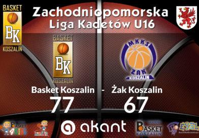 Kadeci Basketu zwyciężają w derbach Koszalina z Żakiem !