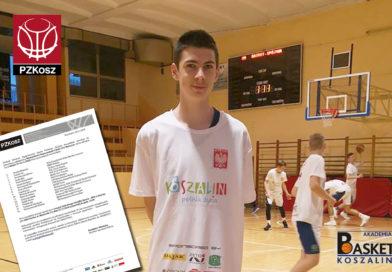 Antoni Siewruk na zgrupowaniu Kadru U14