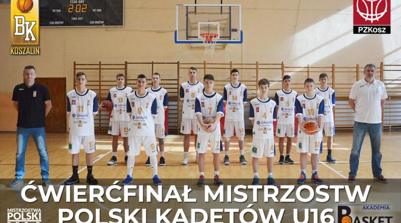 Mamy ćwierćfinał Mistrzostw Polski U16 !